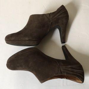 Clark's Indigo Shoes - Clark's indigo brown suede booties size 9 .5